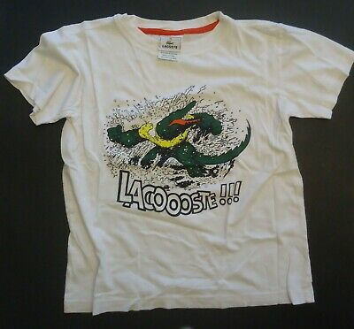 Boys 10 But Fits 8 White LACOSTE Shirt
