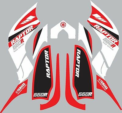 Used, Graphics for Yamaha Raptor 660 660R ATV  decals stickers  for sale  Shipping to South Africa