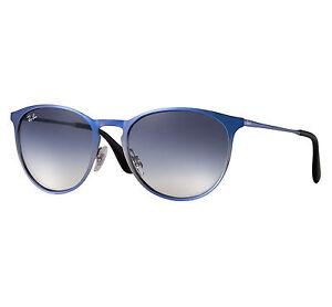 f83d71fb453138 Ray-Ban Erika Metal Unisex Sunglasses with Light Blue Gradient ...
