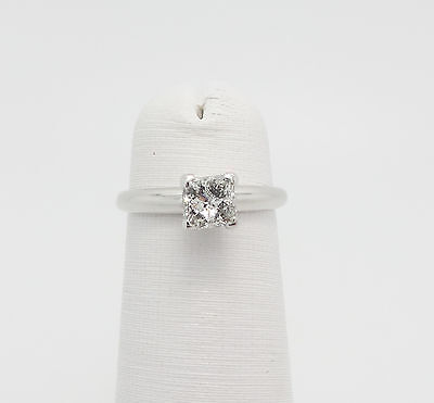 1/2CT Princess Cut Diamond Solitaire Engagement Wedding Ring 14K White Gold