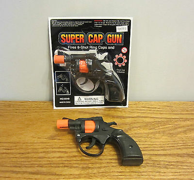 1 NEW SUPER CAP GUN TOY PISTOL HANDGUN FIRES 8 SHOT RING CAPS KIDS TOY REVOLVER
