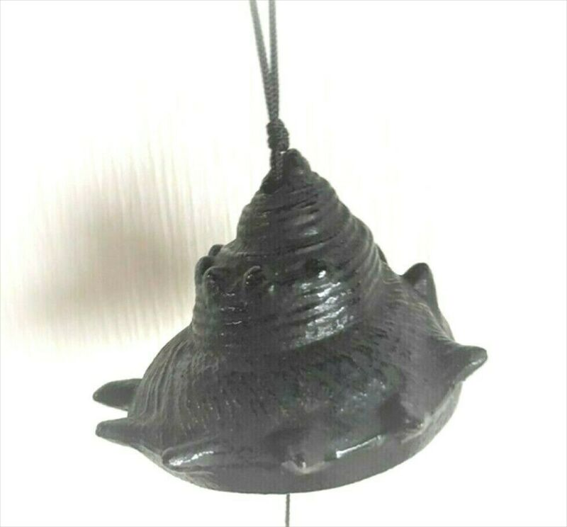 Furin Wind Chime Bell Nanbu Cast IronHandcraft Turban shell Made in Japan