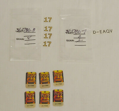 Williams Indiana Jones Pinball Replacement Target & Plane Decals Lot