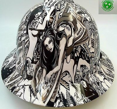 Hard Hat Full Brim Custom Hydro Dipped Osha Approved Hustler Girls New Super