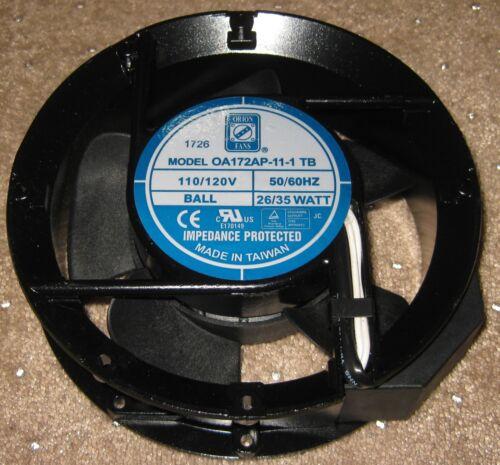 Orion OA172 172mm x 51mm 235 CFM Round Fan - 115 VAC - 3200 RPM - 172 mm AC Fan