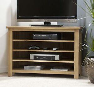 Nero-solid-oak-furniture-corner-television-cabinet-stand-unit