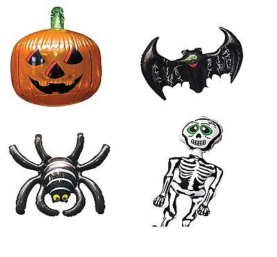 HALLOWEEN INFLATABLE PUMPKIN SPIDER BAT SKULL DECORATIONS NOVELTY PARTY ROOM SET