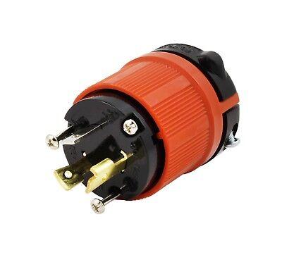 20 Amp NEMA L5-20P DIY Locking Male Plug Assembly by AC WORKS®  Locking Plug 20 Amp