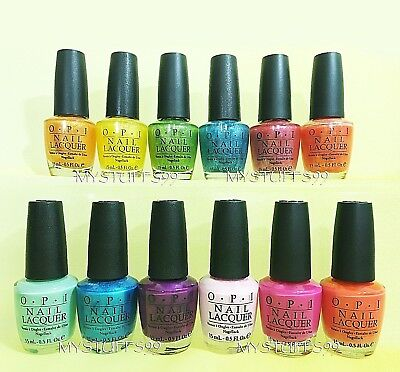 OPI Nail Lacquer *BRIGHTER BY THE DOZEN - BRIGHTS COLLECTION 2006* 12 SHADES SET - Sunglasses By The Dozen