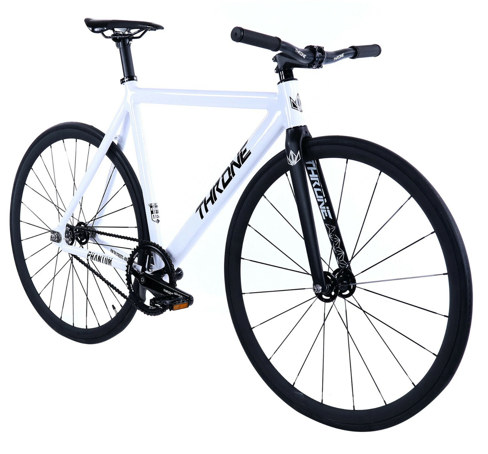 Throne Phantom Fixed Gear Single Speed Bicycle Bike 2020 White 50 53 55 59 CM