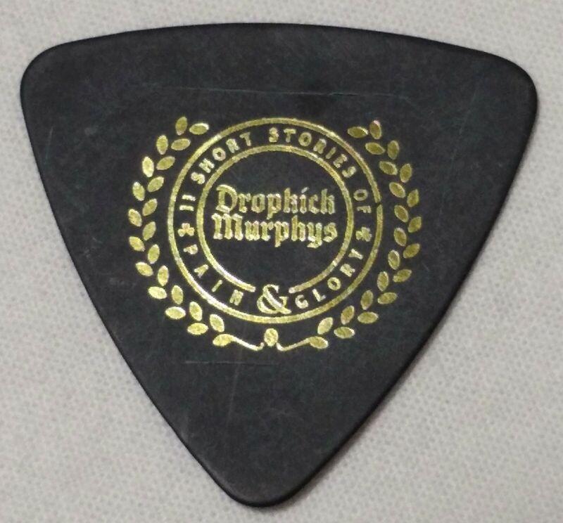 DROPKICK MURPHYS ~ Jeff DaRosa Gold Foil Guitar Pick ~ SHOW USED ~ 2018 Tour