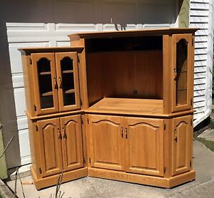 Solid oak custom cabinet