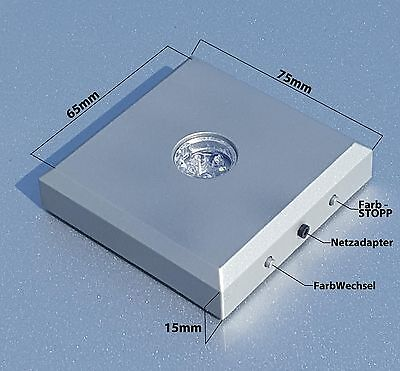 NEU Leuchtsockel LED Farbig für 2D zu 3D Glaswürfel Laser Fotos Geschenkidee