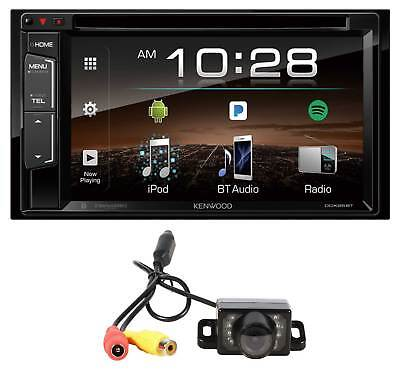 Kenwood Ddx25bt 6 2  2 Din Dvd Monitor Bluetooth Receiver Sirius Mp3 Wma Camera