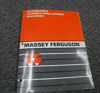 Massey Ferguson Mf 1010 1020 1030 Tractor Accessories Parts Mart Catalog Manual