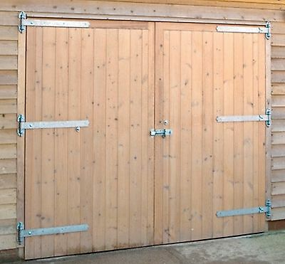 High quality wooden garage doors 7ftwide X 6.6ft High cheapest on ebay