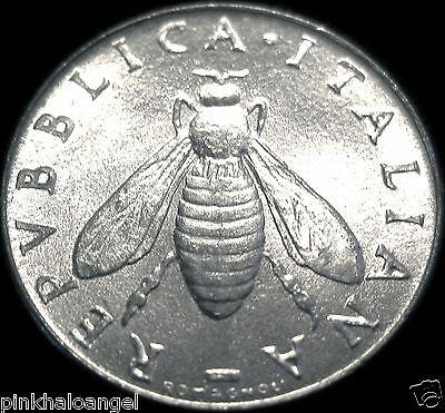 Italy - Italian 1957R 2 Lire Coin - Honeybee Coin