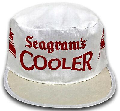 Vintage 80s SEAGRAMS Cooler Canvas Painters Cap Baseball Hat Alcohol Liquor Punk