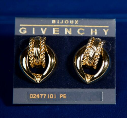 Beautiful Gold Toned Vintage Givenchy Earrings - Pierced