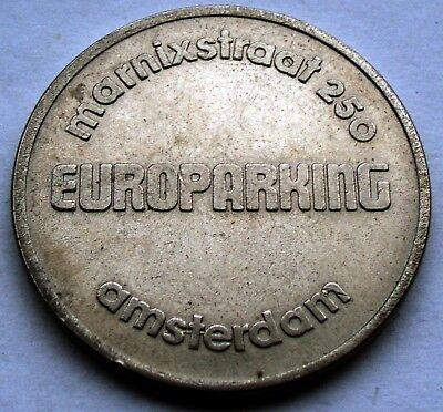 NETHERLANDS AMSTERDAM Marnixstraat 250 EUROPARKING Token 28mm 8.6g CuNi K2.1