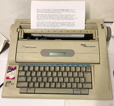 Smith-corona Na3hh Display Dictionary Electronic Typewriter Word Processor