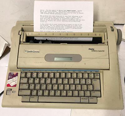Smith-corona Na3hh Display Dictionary Electronic Typewriter Word Processor