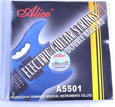 Doble Bola End Cuerdas Guitarra Eléctrica Calibre 010 046 Acero Níquel Aleación