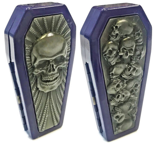 Eclipse Assorted Purple Coffin Shaped Crushproof Metal Cigarette Case, 100s, #-P