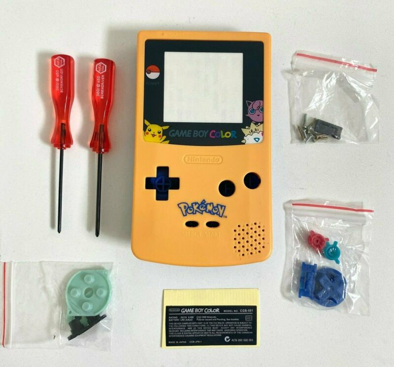 Replacement Housing for Nintendo Game Boy Color GBC Shell Yellow Blue Pokemon