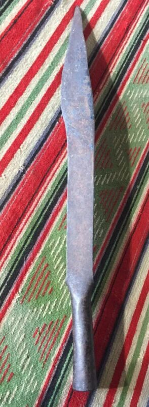 Antique Mexican Iron Lance Head Or Large Knife