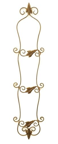 Triple Plate Holder, for the wall Leaf Design, Antique Copper Finish-44H X 10W