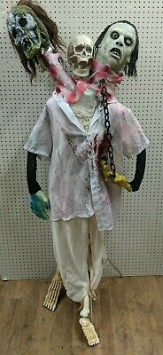 Creepy Halloween homemade 3 headed creature animated skull masks mannequin frame](Homemade Mask Halloween)