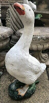 Stone Vintage Decorative Goose/ Water Fountain- A Good Size