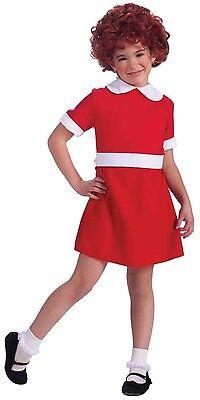 Annie Costume Little Orphan Annie Musical Red Fancy Dress Girls Child Kids S M L (Annie Orphan Dress)