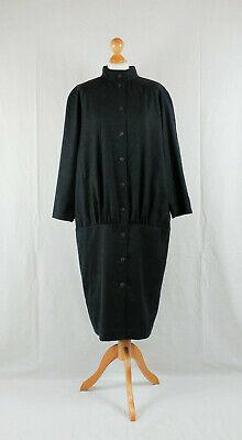 80s Dresses | Casual to Party Dresses Vintage Marimekko 1980s Graphite Grey Oversized Cocoon Dress $174.75 AT vintagedancer.com