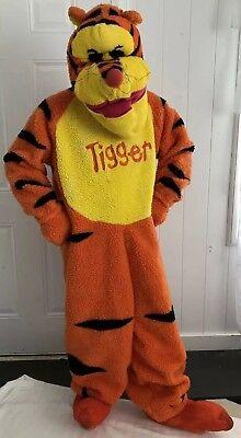 Adult Disney TIGGER  Winnie The Pooh Full Costume Realistic 3D Mask Shoes Sz (Tigger Pooh Kostüm)