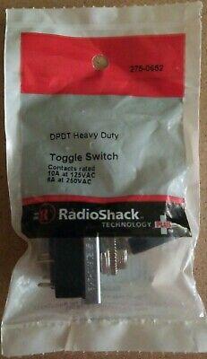 New Radioshack Dpdt 10a 125vac Heavy-duty Toggle Switch 2750652 Free Ship