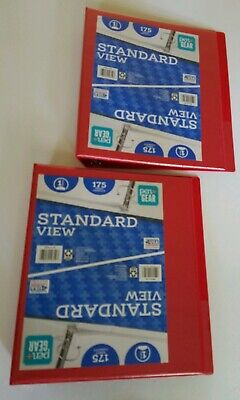 2 Pack Pengear 1 Inch Standard O Ring 3 Ring Binder Holds 175 Sheets Red New