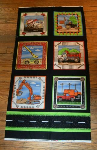 1 panel designed by Nancy Vasilchik for Exclusively Quilters Construction Equip.