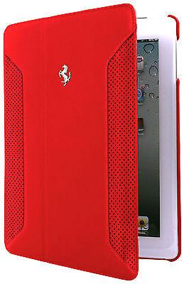 Ferrari Accepted  iPad Mini 1, 2 Genuine Leather Folio Defray Case FEF12FCPM2RE