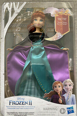 New! Disney Frozen 2 Musical Adventure Singing ANNA Doll