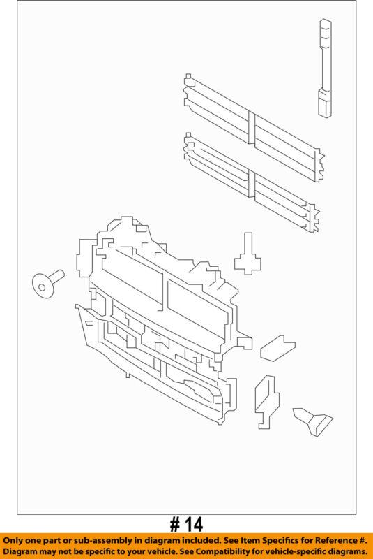 Ford Oem 2018 Explorer Radiator-grille Shutter Jb5z8475a