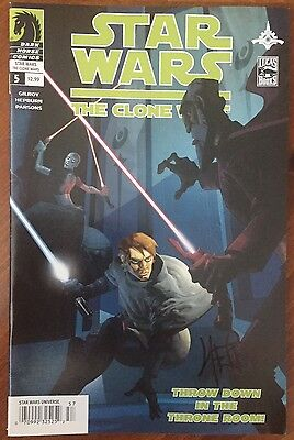 Star Wars: The Clone Wars (2008) #5 - Signed Comic Book - Dark Horse Comics