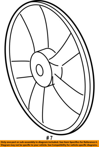 Toyota Oem 06 08 Rav4 Radiator Cooling Fan Blade 1636131160