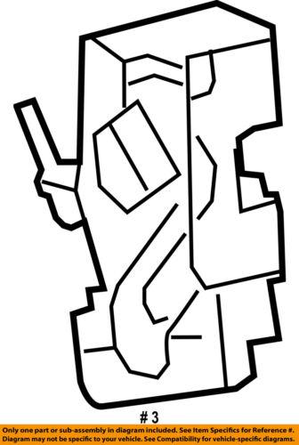 Chrysler Oem Rear Door Lock Actuator Motor 4589696ad