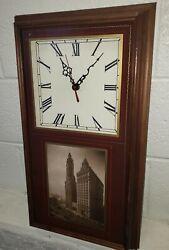 Rare Chaplin Clock Chicago Wrigley Building 19 X 13