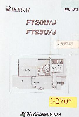 Ikegai Ft20uj Ft25uj Nc Lathe Parts Lists And Assembly Drawings Manual