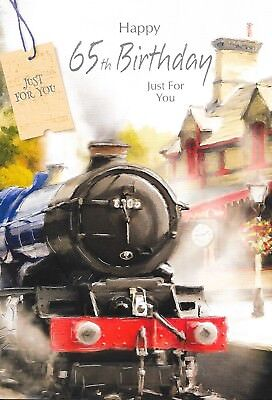 Y CARD,STEAM TRAIN THEME,MALE,TRADITIONAL TOP QUALITY(A8) (Hapy Birthday)