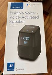 Insignia Voice Smart Bluetooth Speaker Alarm Clock with the Google Assistant SR