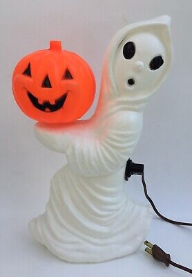 """Vintage Ghost With Jack O Lantern 13"""" Halloween Blow Mold"""